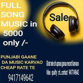 Full song music done in 5000 only