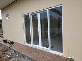 Pintu sliding daubel alumunium