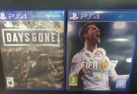 Ps4 games days gone and fifa 18