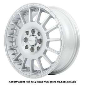 MODEL VELG JD803 HSR R15X65 H8X100-114,3 ET45 SILVER