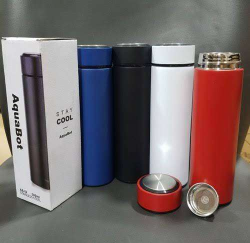 Flasks 500ml Vacuum Thermos LCD Temperature Display Water Bottle Stain 0