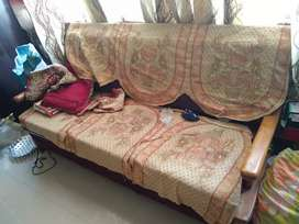 Sagwan wood sofa