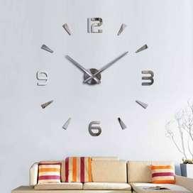 Jam Dinding Besar Raksasa Dekorasi Minimalist 3D Giant Wall Clock DIY