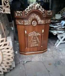 mimbar masjid bahan jati model baru