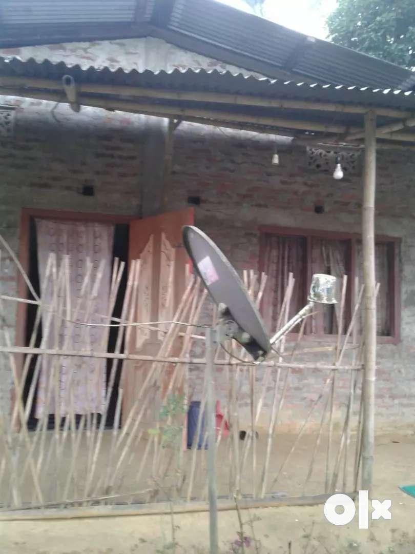 Half katha mati with Assam type house 0