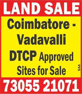 Direct Sale Only -- DTCP Approved Land For Sale In Vadavalli