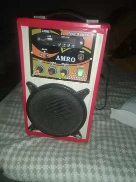 AMRO Speaker USB SD Card mic and FM + mp3 box high quality speaker