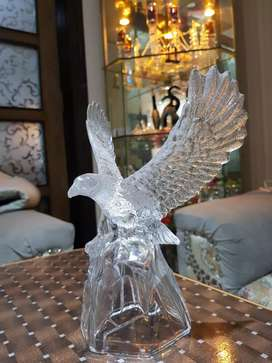 Crystal made eagle (height 9 inch.width wing to wing 7 inch)