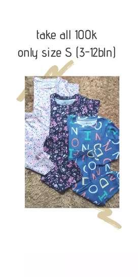 Baju piyama anak perempuan 100rb 3 stel