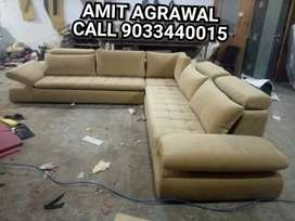 Alden gold model brand new sofa set