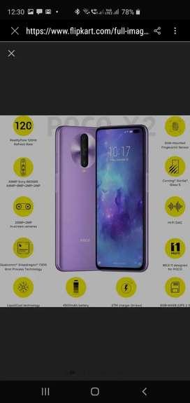 Poco x2 64gb purple color just opened