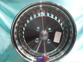 Velg mobil Kijang ring 15 lebar 7/8 tipe Sasebo HSR silver