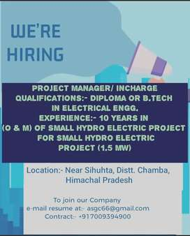 Project Manager/ Incharge