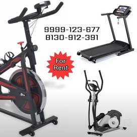 Treadmill, Cross Trainer, and Spinning Bike on Rent in Dwarka Sec 6