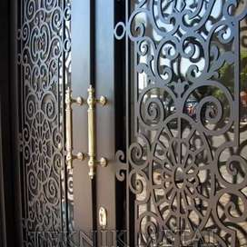 CNC metal cutting for gates, stair railings, grills, furniture, decor