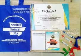 Percetakan seminarkit, blocknote, pulpen sertifikat, tas seminar