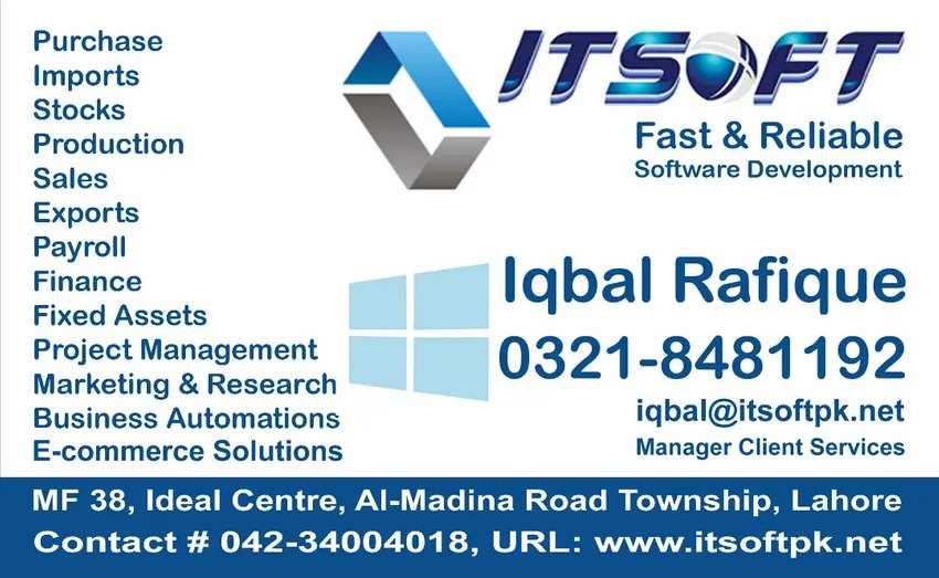 Accounting & Financial Software, ERP, Payroll & HR Sys E-Commerce, POS 0