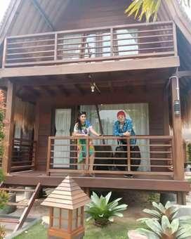 Rumah kayu murah,dua lantai