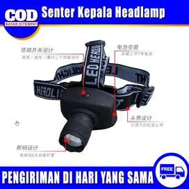 Senter Kepala Headlamp Flashlight 3W - TK17 - Black