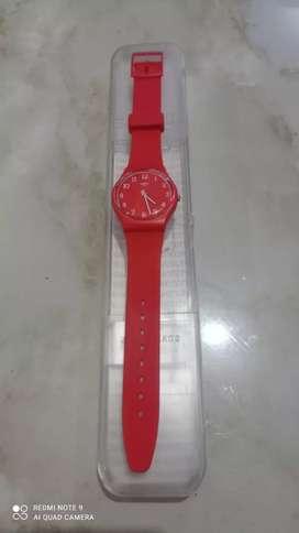 Dijual karena BU jam merk SWATCH ori warna merah
