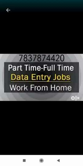 Opened vacancies of English typing work for the part time job
