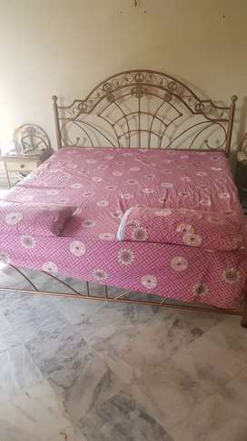 Wrought Iron Bedroom Set with two chairs