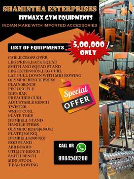 Full gym setup with reasonable price by manufacturers
