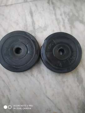 3kg each Two Dumbell plates