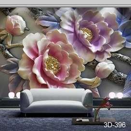 Terima Pesan dan Pasang Wallpaper Dinding 3D Custom Gorden Hordeng