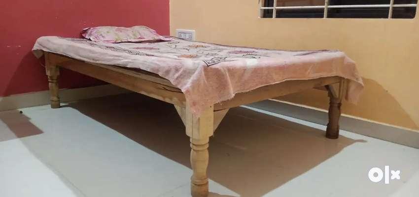 Bed with beautiful gadda