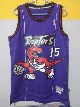 Jersey Baju Basket NBA Toronto Raptors Vince Carter Original