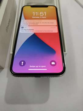 "Apple iPhone X 64GB Silver, With BiL.BoX Chargr Available ""MOBILE HUB"""