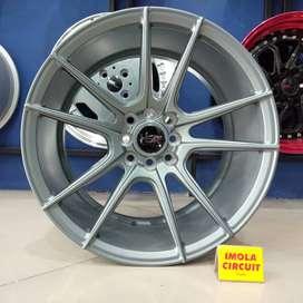 Velg mobilio ring 17 HSR wheel baut 4x100 dan 4x114,3 Grey