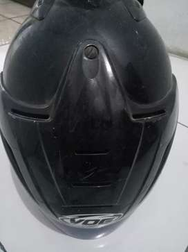 Helm cow warna hitam