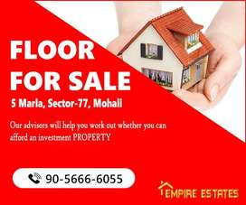 5Marla First-Floor, Fully Marbled For Sale in  Sector-77, Mohali