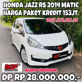 Honda Jazz RS 2014 Matic Putih Muluss Audio Upgrade Murah Sekali