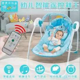 Electric swing with remote baby rocker