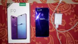 oppo f9 in perfect condition 4gb 64gb with memory slot option