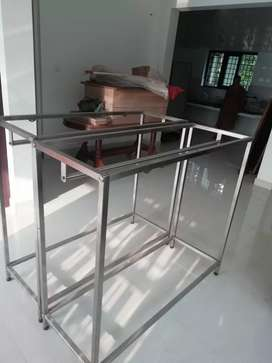 Stand with glass top