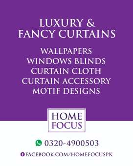 Luxury and Fancy Curtains, Wallpapers, Windows Blinds