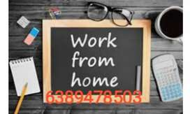 Typing work/Hone based work/Data entry Operator /parttime job...