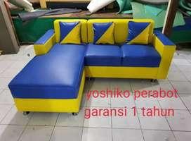 Yoshiko perabot  - sofa L cellini biru kuning