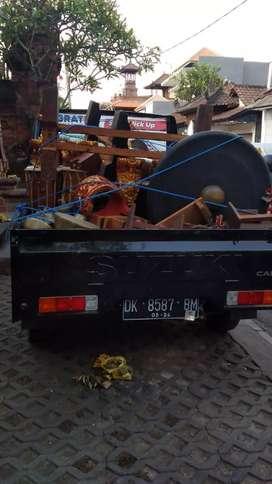 Angkut buang bongkalan puing puing bangunan sampah pindahan pickup