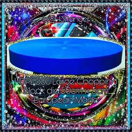 Talenan Besar Bulat Biru HDPE 500 dia.50x5cm Buatan Eropa
