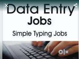 Data entry, any system work,field work,
