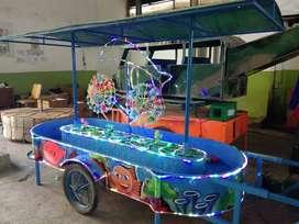 wahana Pancingan air lampu lumba2  perahu kayuh fiber AF