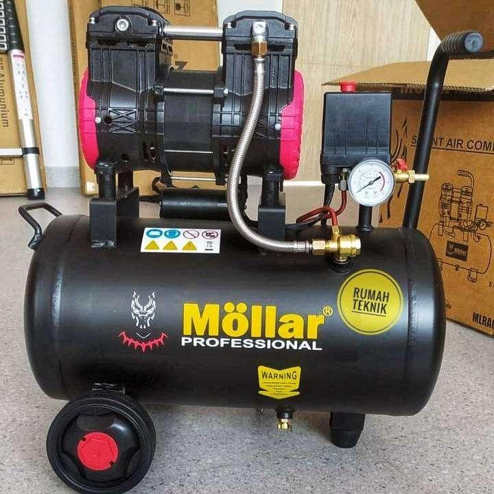mollar 100 8 bp silent compressor 8 liter 3/4 hp kompresor