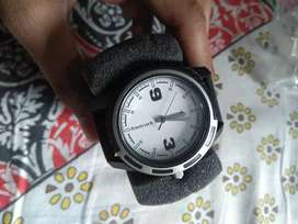 Fastrack silver dial watch