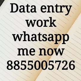 Work from home as data typist data entry job
