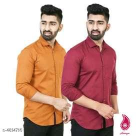 Elite Modern Men's Shirts Combo  Fabric: Cotton Blend Sleeve